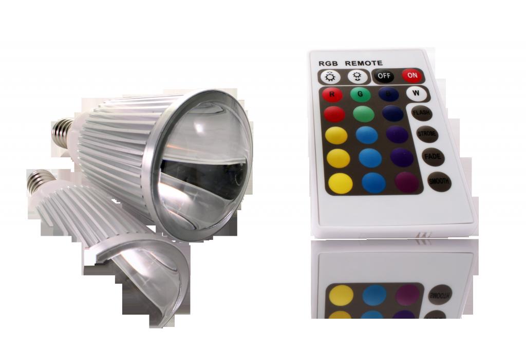 LED bodovka 5W, E14, RGB s dálkovým ovládáním